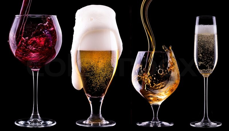7413907-alcohol-drinks-set-isolated-on-a-black
